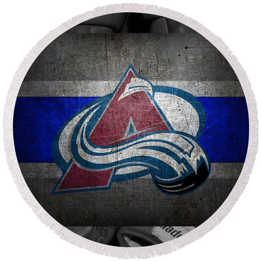 Avalanche Round Beach Towel featuring the photograph Colorado Avalanche by Joe Hamilton