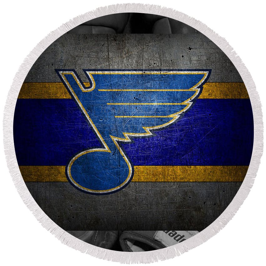Blues Round Beach Towel featuring the photograph St Louis Blues by Joe Hamilton