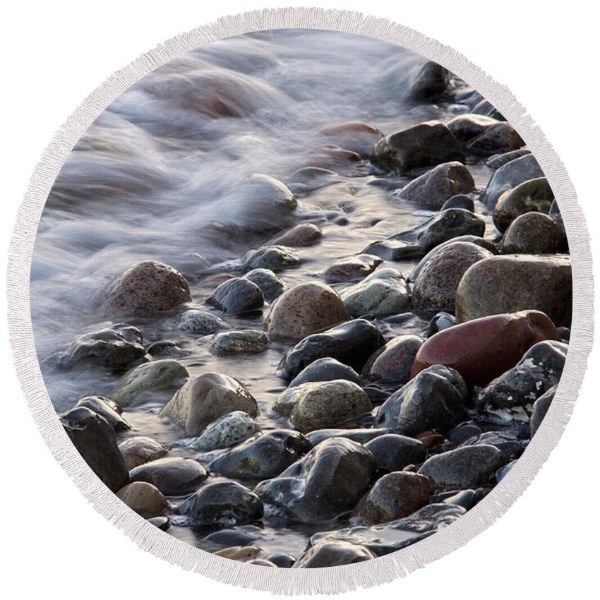 Rock Round Beach Towel featuring the photograph 110613p203 by Arterra Picture Library