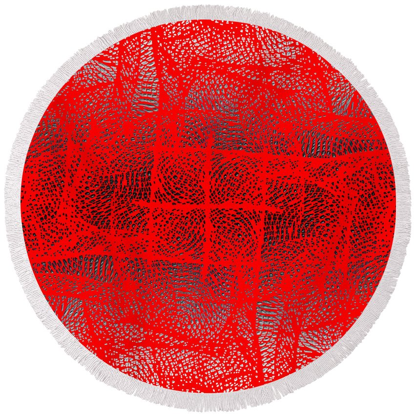 Abstract Round Beach Towel featuring the digital art 1162 Abstract Thought by Chowdary V Arikatla
