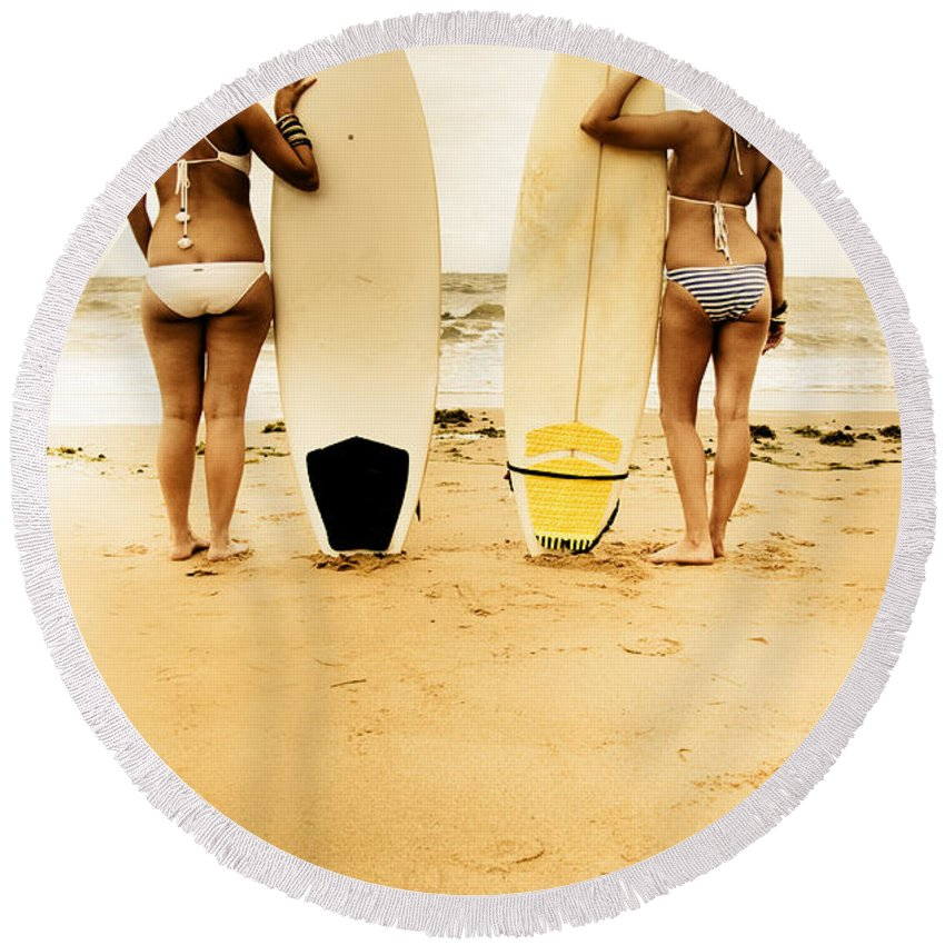Blonde Round Beach Towel featuring the photograph Summer by Jorgo Photography - Wall Art Gallery