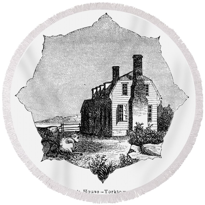 1781 Round Beach Towel featuring the photograph Yorktown: Surrender, 1781 by Granger