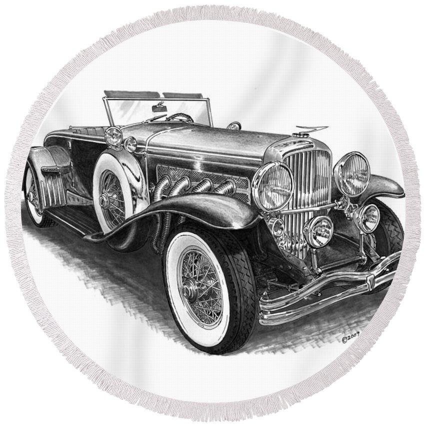 Duesenberg For Sale >> 1930 Duesenberg Model J Round Beach Towel