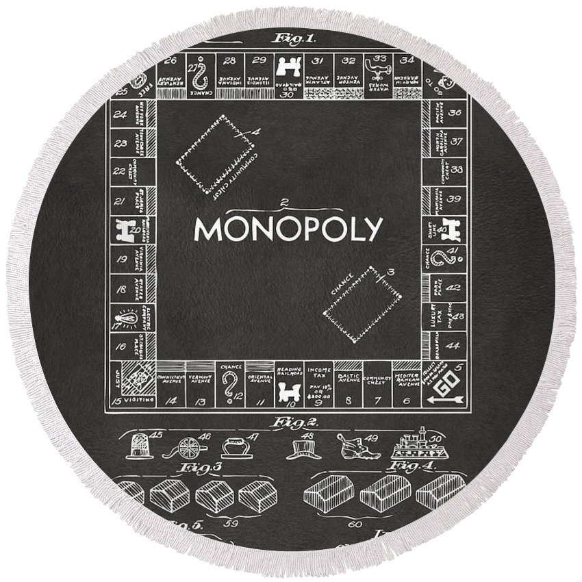 Monopoly Board Game Round Beach Towels