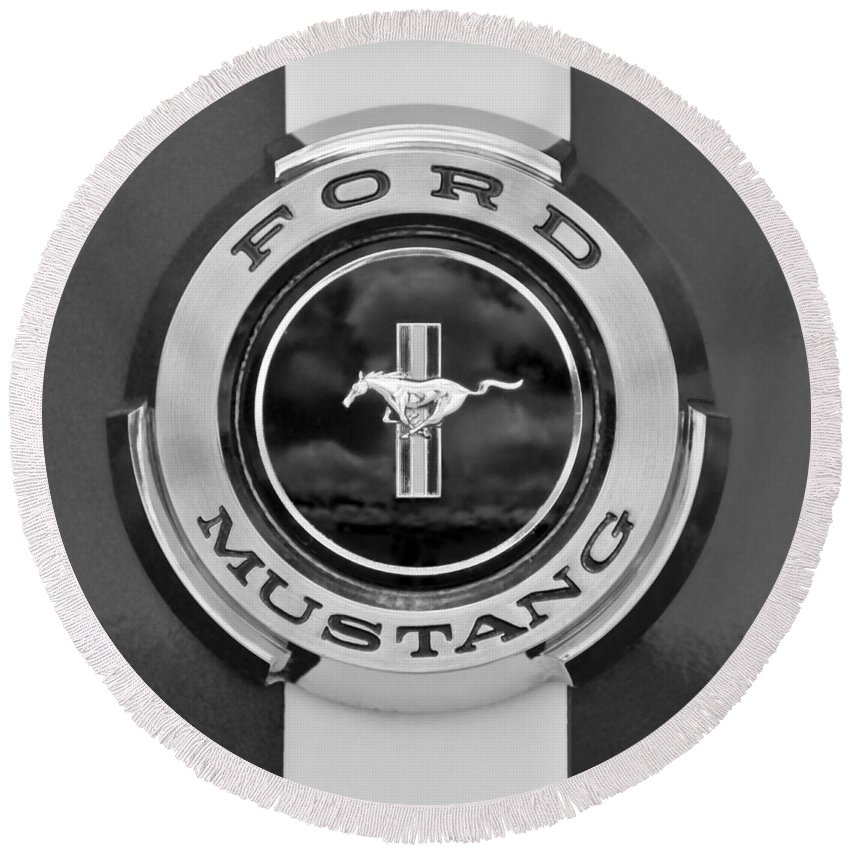 1966 Ford Mustang Shelby Gt 350 Emblem Gas Cap 0295bw Round Beach