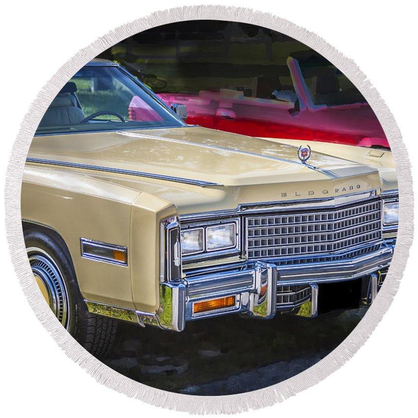 1978 Cadillac Round Beach Towel featuring the photograph 1978 Cadillac Eldorado by Rich Franco