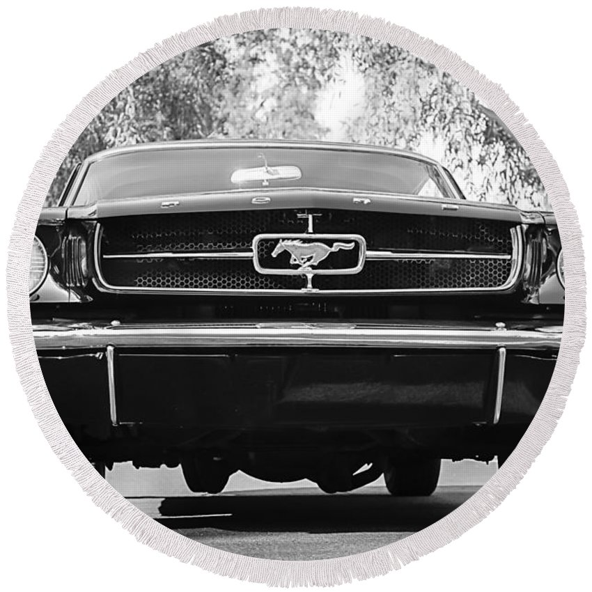 1965 Shelby Prototype Ford Mustang Round Beach Towel featuring the photograph 1965 Shelby Prototype Ford Mustang by Jill Reger