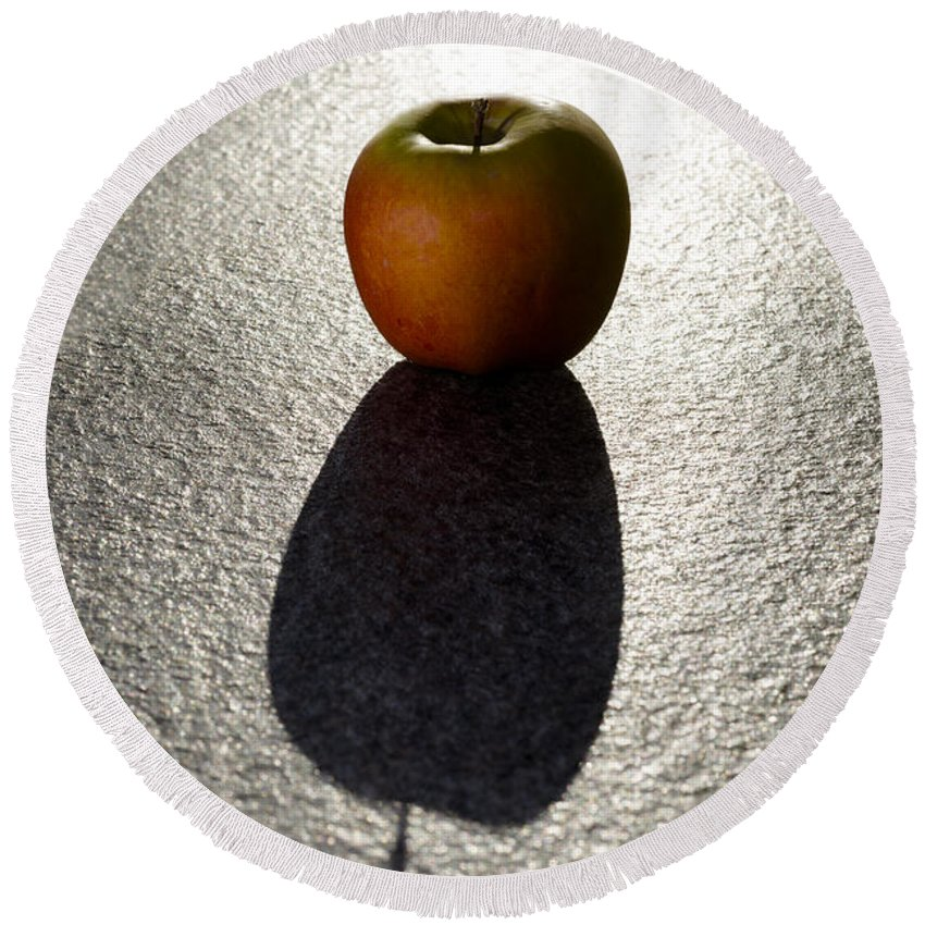 Apple Round Beach Towel featuring the photograph Apple by Mats Silvan