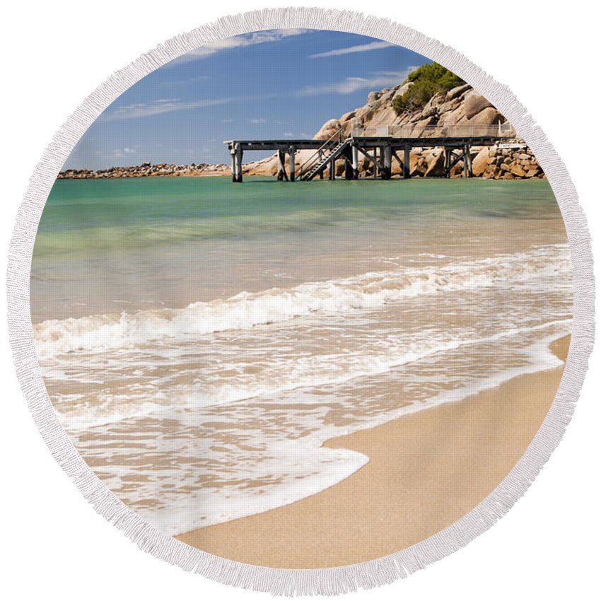 South Australia Round Beach Towel featuring the photograph Australian Beach by Tim Hester