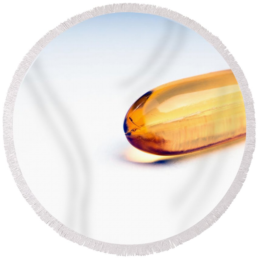 Capsule Round Beach Towel featuring the photograph Capsules by Tim Hester