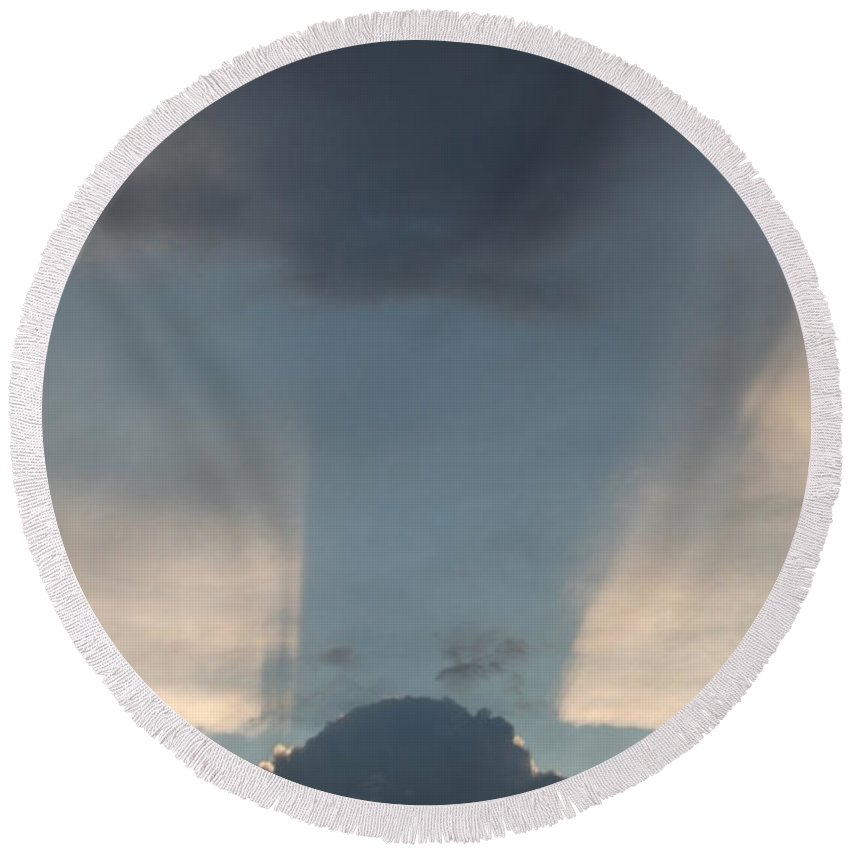 Sky Round Beach Towel featuring the photograph Cloud Shadow by David S Reynolds