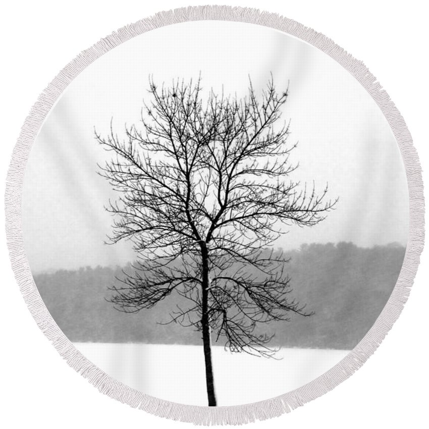 Landscape Round Beach Towel featuring the photograph Fight Against The Storm by Crystal Wightman