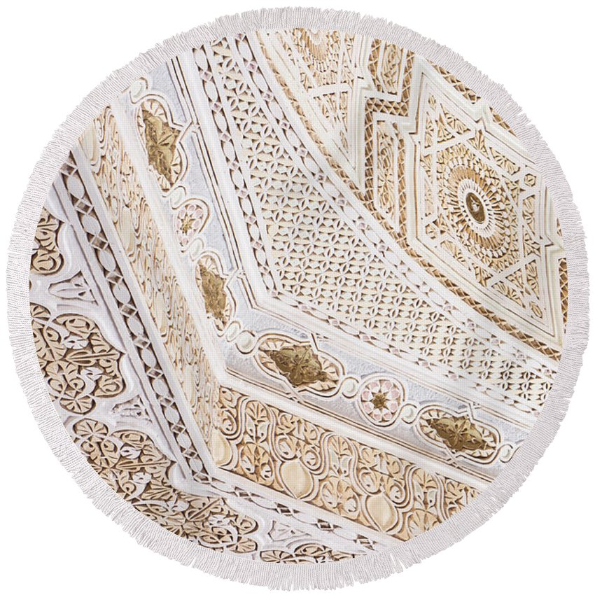 Arabic Round Beach Towel featuring the photograph Islamic Architecture by Tom Gowanlock