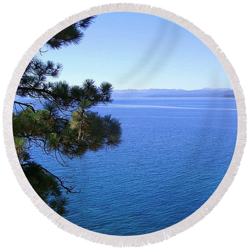 California Round Beach Towel featuring the photograph Lake Tahoe 2 by J D Owen