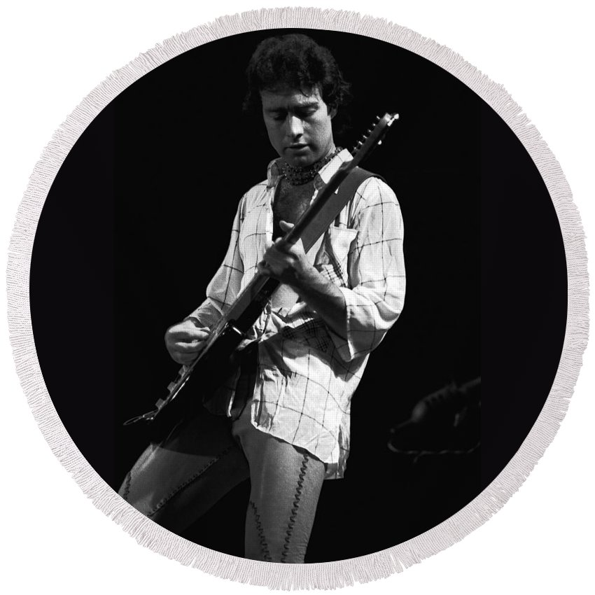 Paul Rodgers Round Beach Towel featuring the photograph Paul In Spokane 1977 by Ben Upham