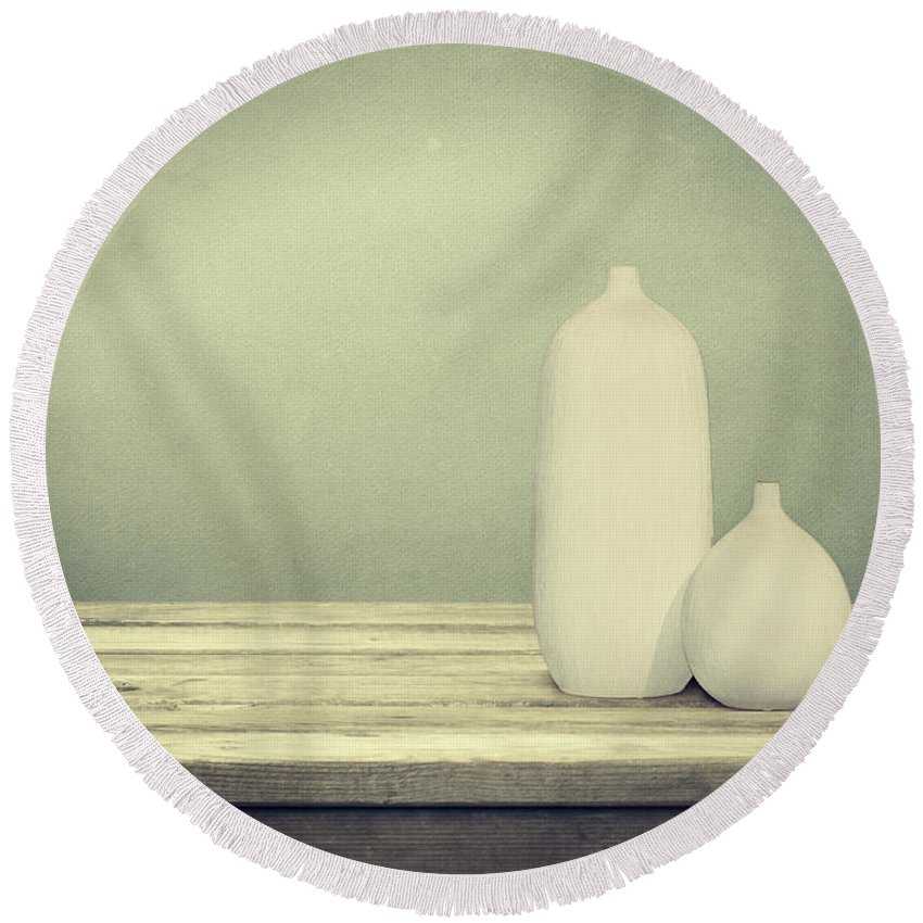 Still Life Round Beach Towel featuring the photograph Still Life by Heike Hultsch
