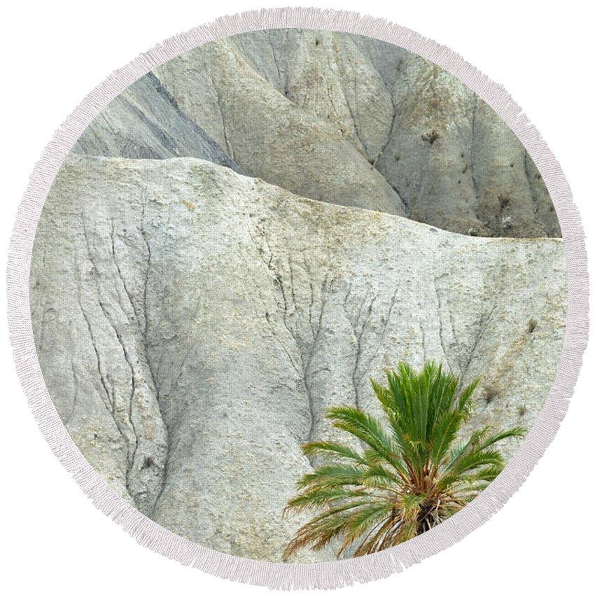 Desert Round Beach Towel featuring the photograph Tabernas Desert by Guido Montanes Castillo