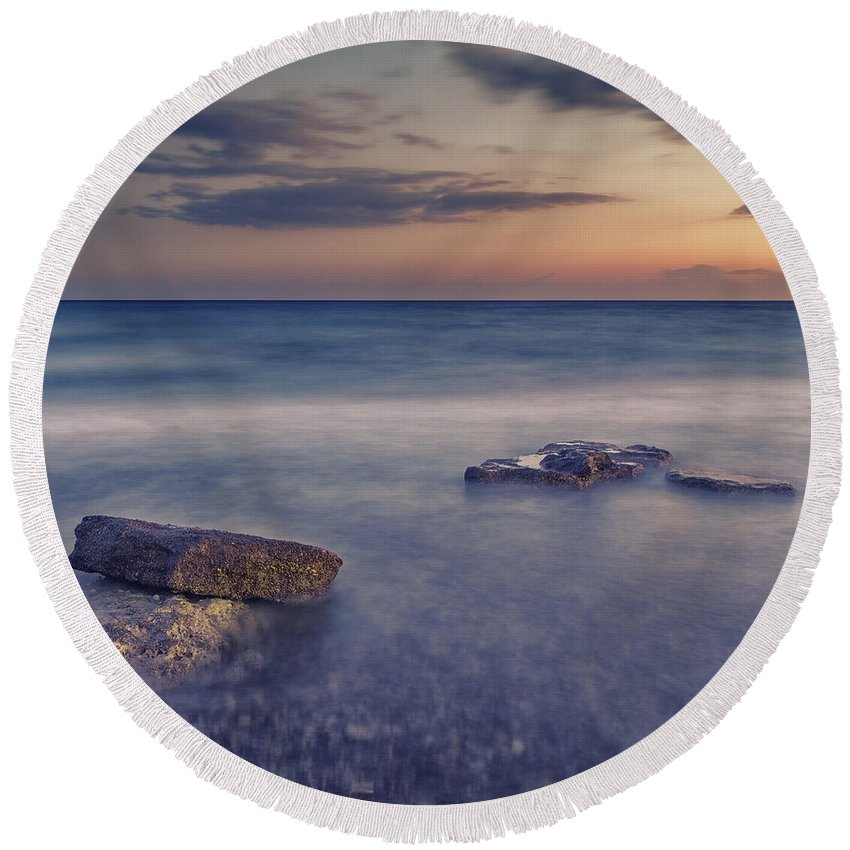 Time Round Beach Towel featuring the photograph Time by Stelios Kleanthous