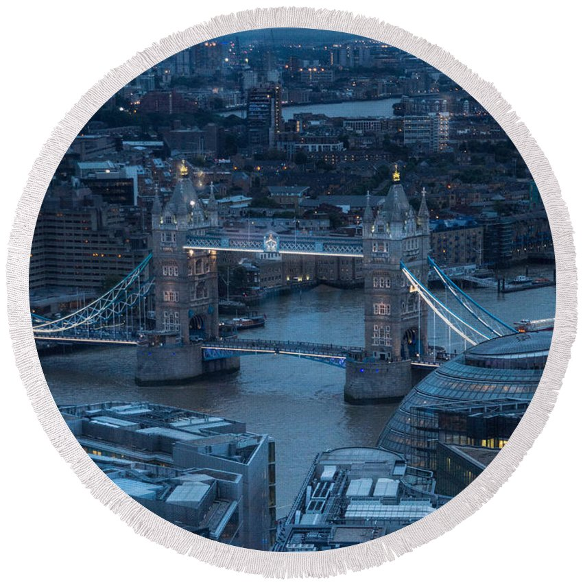 Tower Bridge Round Beach Towel featuring the photograph Tower Bridge London by Keith Thorburn LRPS AFIAP CPAGB