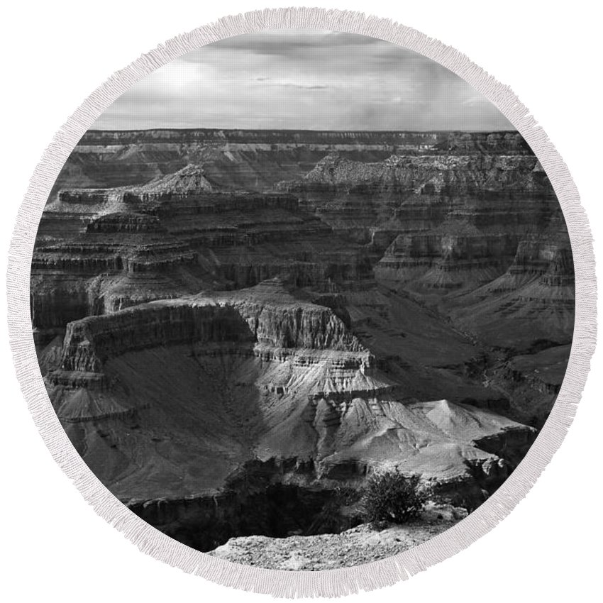 Grand Canyon Round Beach Towel featuring the digital art West Rim Grand Canyon National Park by Bob and Nadine Johnston