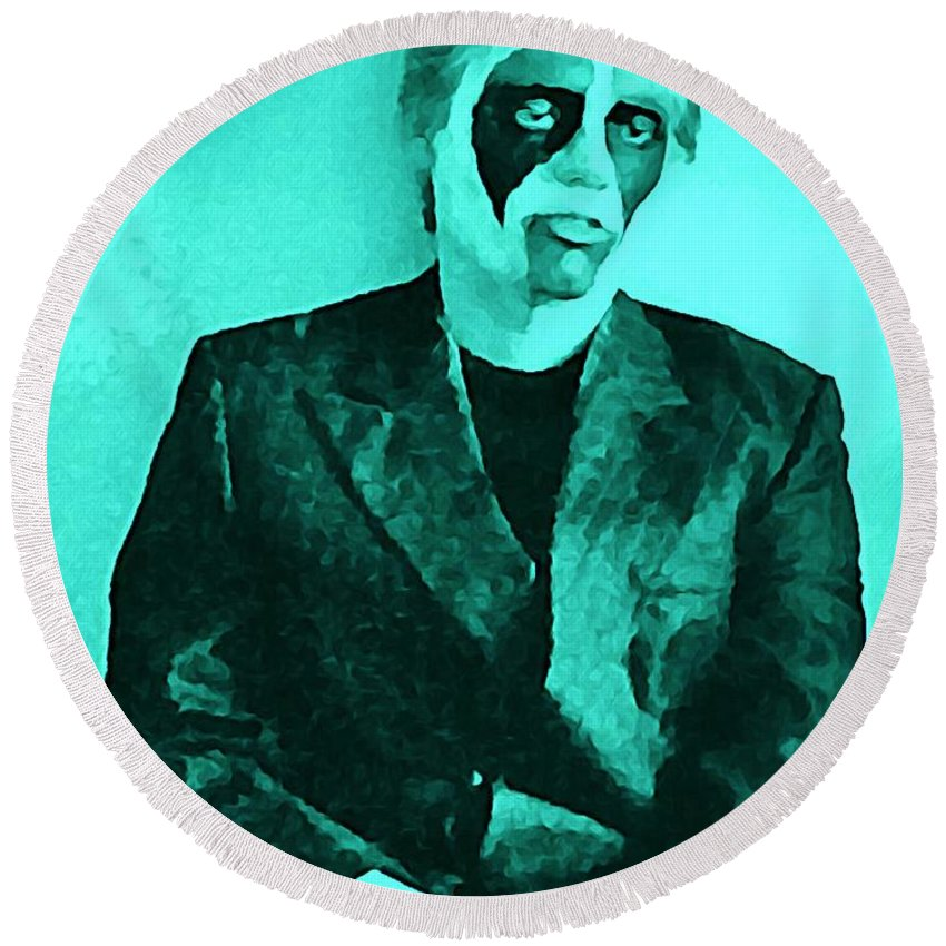 Mime Round Beach Towel featuring the digital art Whats The Point In Miming by John Malone