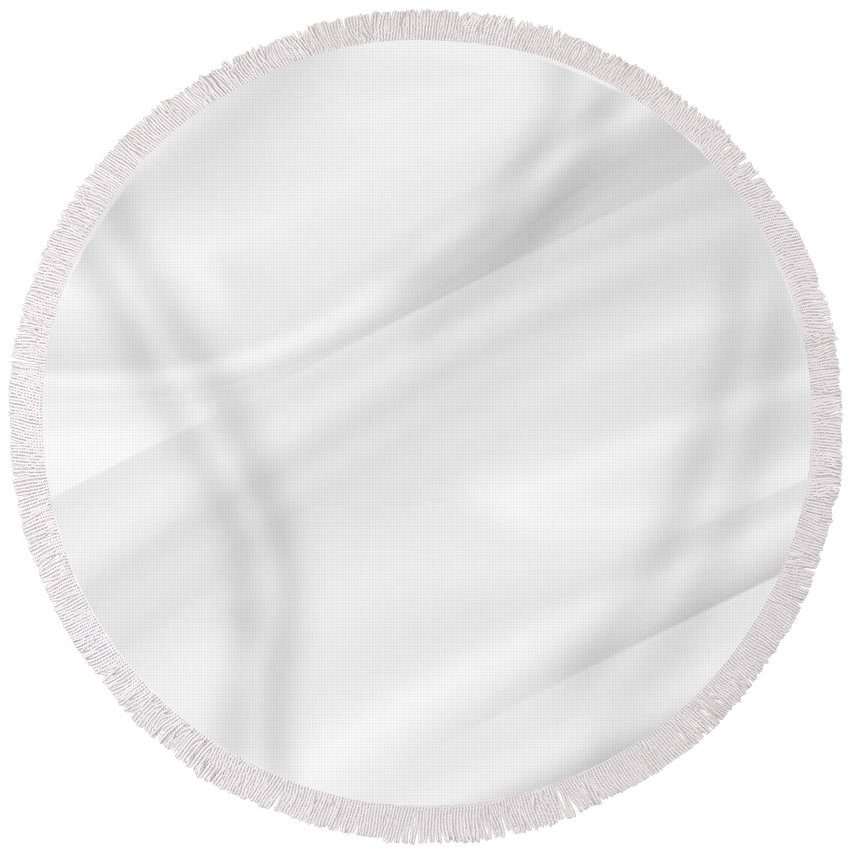 Silk Round Beach Towel featuring the photograph White Silk by Les Cunliffe