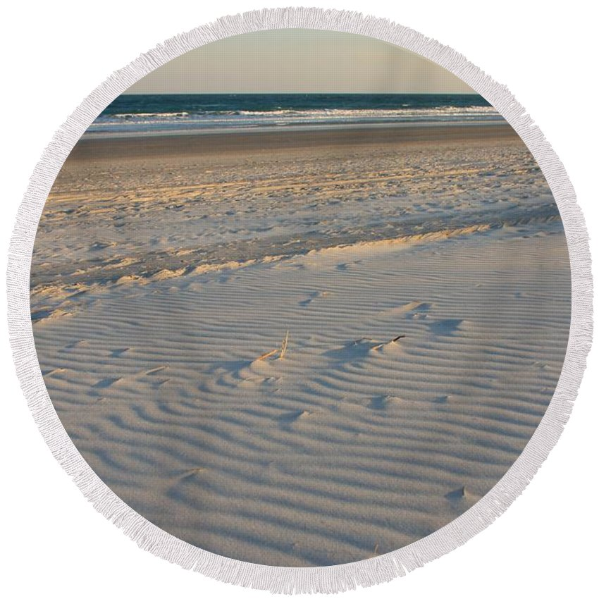 Wrightsville Beach Round Beach Towel featuring the photograph Wrightsville Beach by Mountains to the Sea Photo