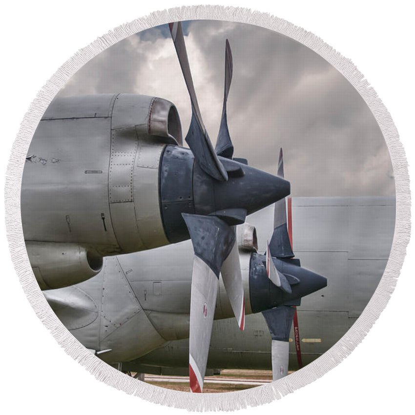 Asw Aircraft Round Beach Towel featuring the photograph 3 And 4 by Guy Whiteley