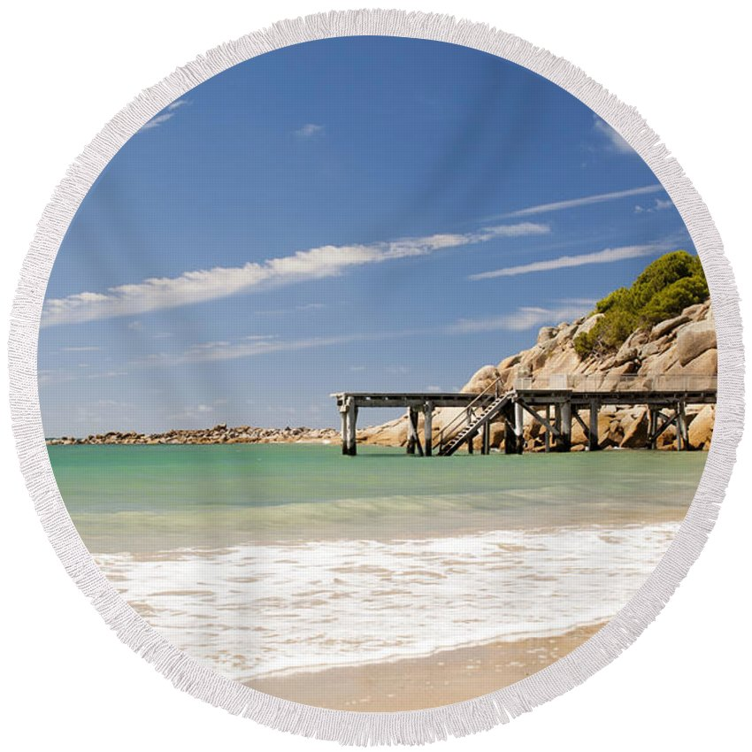 South Australia Round Beach Towel featuring the photograph Australian Beach by Tim Hester