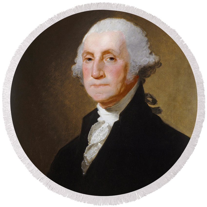 George Washington Round Beach Towels