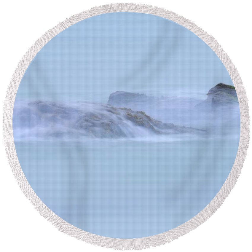 Water Round Beach Towel featuring the photograph Water by Jenny Potter