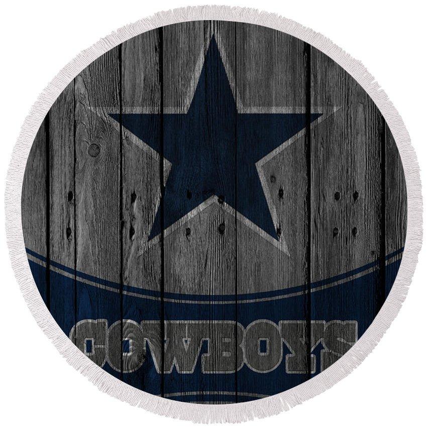 Cowboys Round Beach Towel featuring the photograph Dallas Cowboys by Joe Hamilton