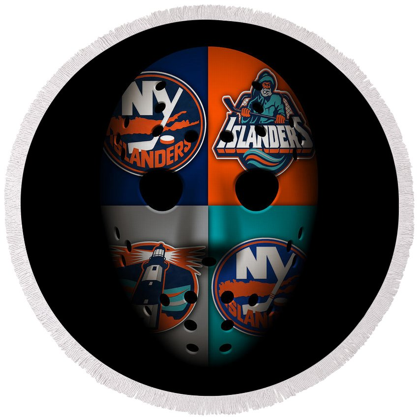 Islanders Round Beach Towel featuring the photograph New York Islanders by Joe Hamilton