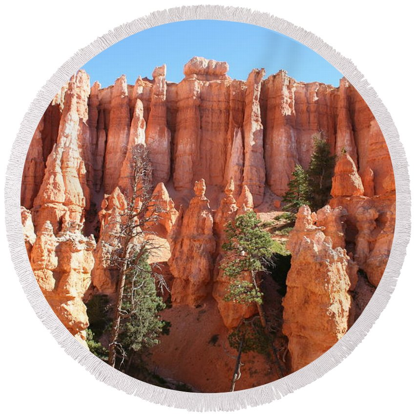 Canyon Round Beach Towel featuring the photograph Bryce Canyon by Christiane Schulze Art And Photography