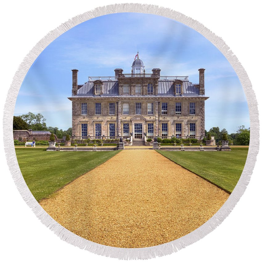 Kingston Lacy Round Beach Towel featuring the photograph Kingston Lacy by Joana Kruse