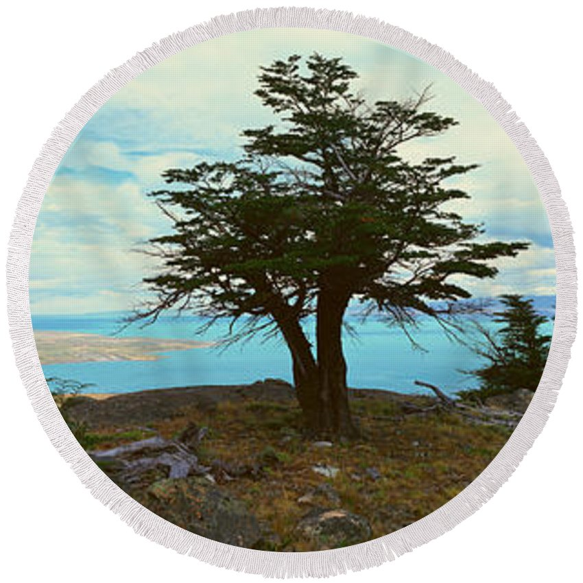 Photography Round Beach Towel featuring the photograph Panoramic View Of Argentinas Largest by Panoramic Images