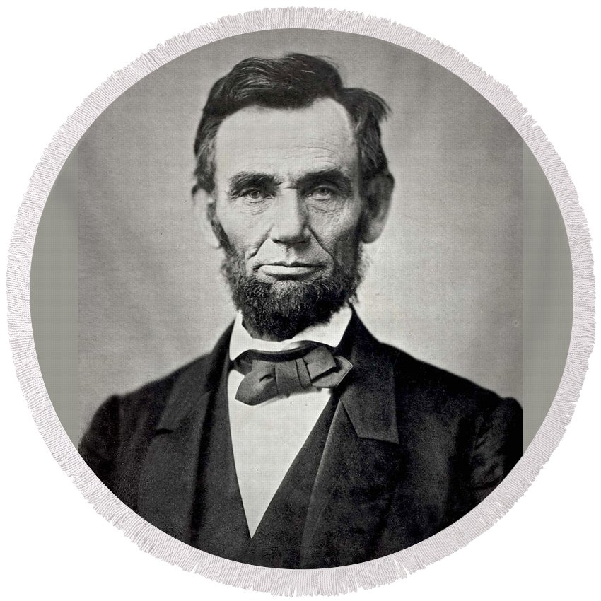 Abraham Lincoln Round Beach Towels