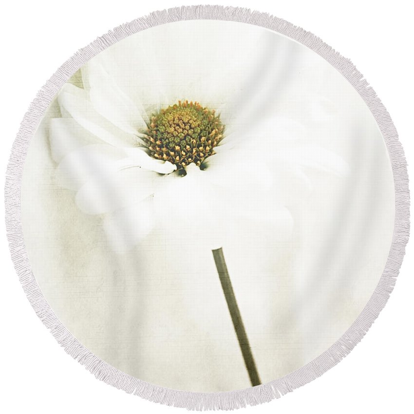 Flowers Round Beach Towel featuring the photograph Untitled by The Artist Project