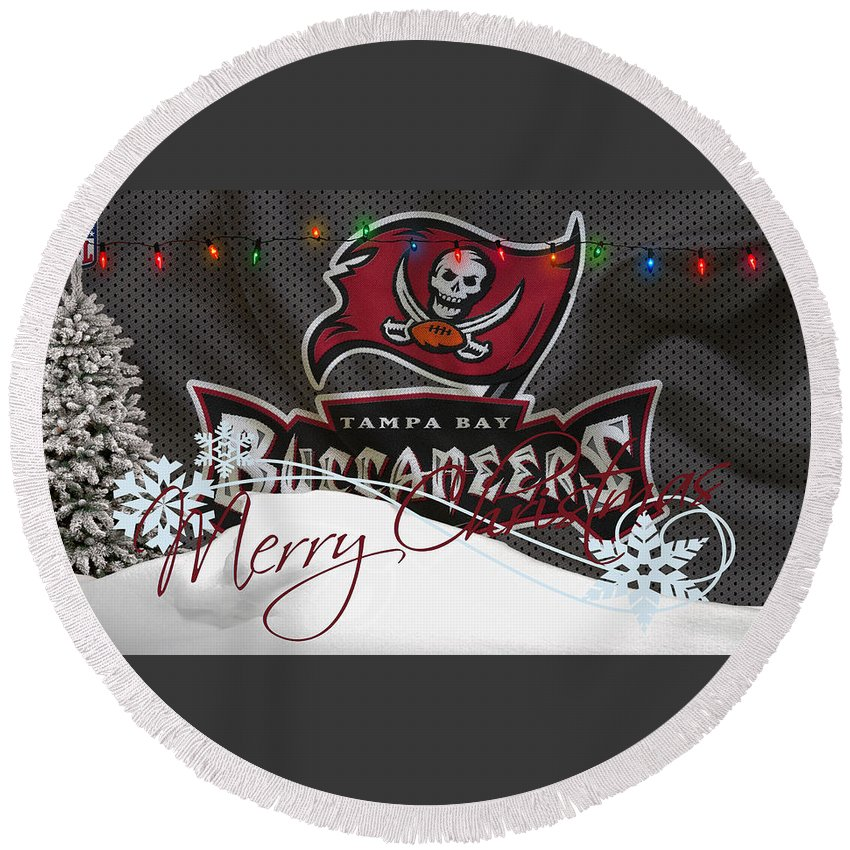 Buccaneers Round Beach Towel featuring the photograph Tampa Bay Buccaneers by Joe Hamilton