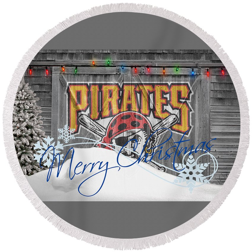 Pirates Round Beach Towel featuring the photograph Pittsburgh Pirates by Joe Hamilton