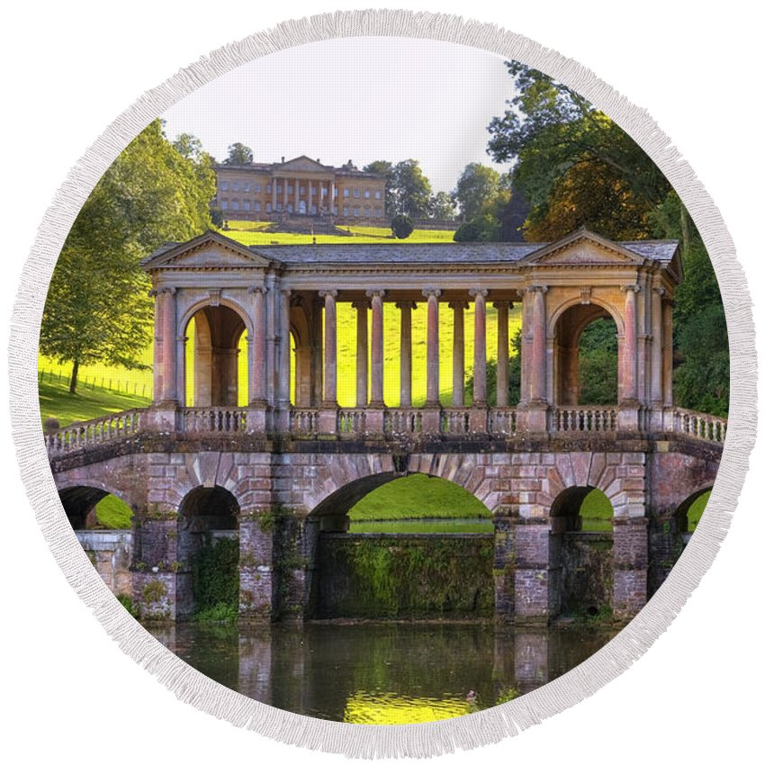 Prior Park Round Beach Towel featuring the photograph Prior Park by Joana Kruse