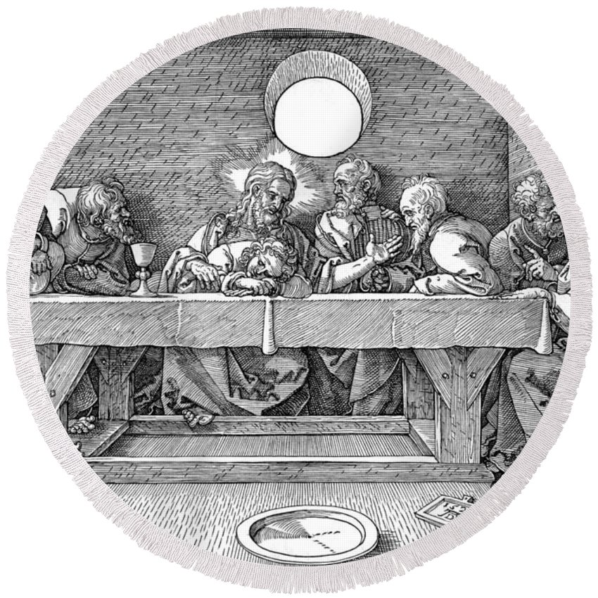 1495 Round Beach Towel featuring the photograph The Last Supper by Granger