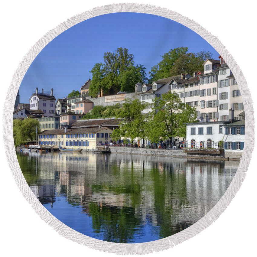 St. Peter Round Beach Towel featuring the photograph Zurich by Joana Kruse