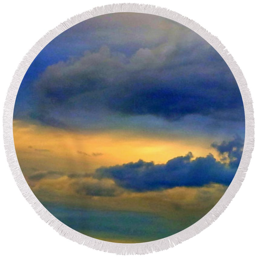 Sky Round Beach Towel featuring the photograph 62 by Paul Wilford