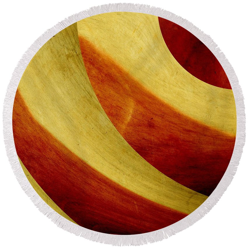 Abstract Art Round Beach Towel featuring the digital art Abstract Art by Heike Hultsch