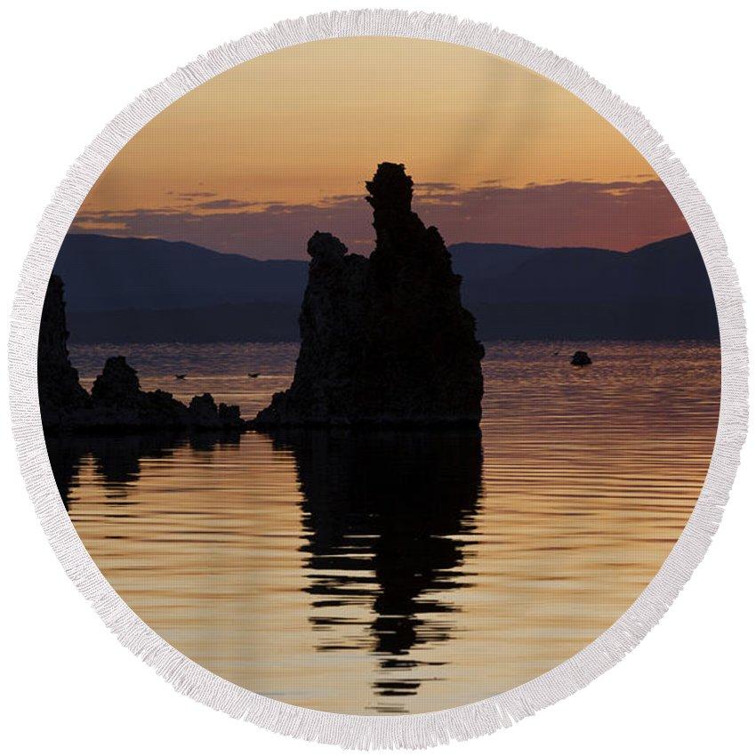 Mono Lake Round Beach Towel featuring the photograph Mono Lake California by Jason O Watson