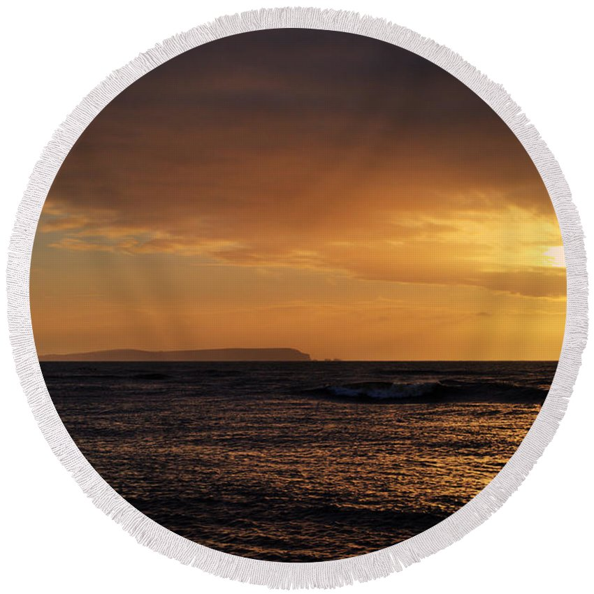 Isle Of Wight Round Beach Towel featuring the photograph Isle Of Wight by Chris Day