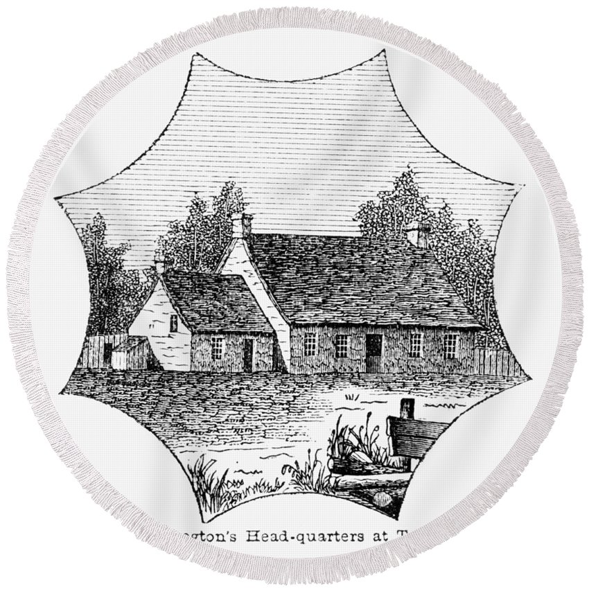 1780 Round Beach Towel featuring the photograph Washington: Headquarters by Granger
