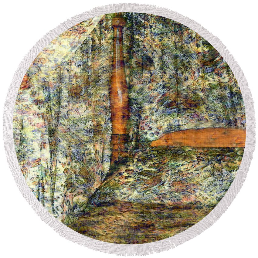 Antiques Round Beach Towel featuring the painting A Profusion Of Chintz by RC DeWinter