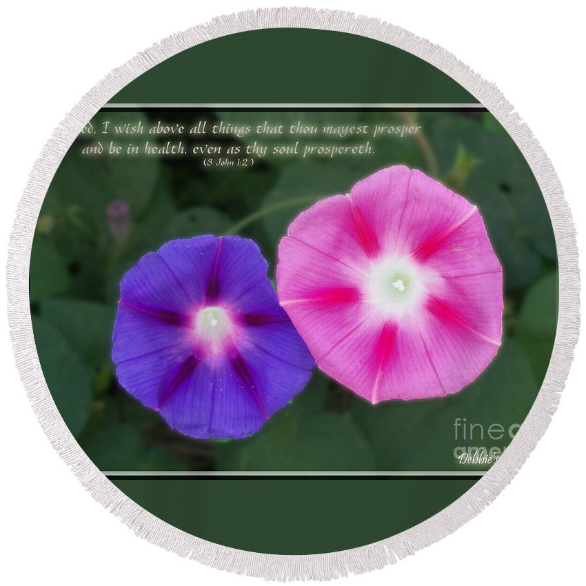 Nature Round Beach Towel featuring the photograph Above All Things by Debbie Portwood
